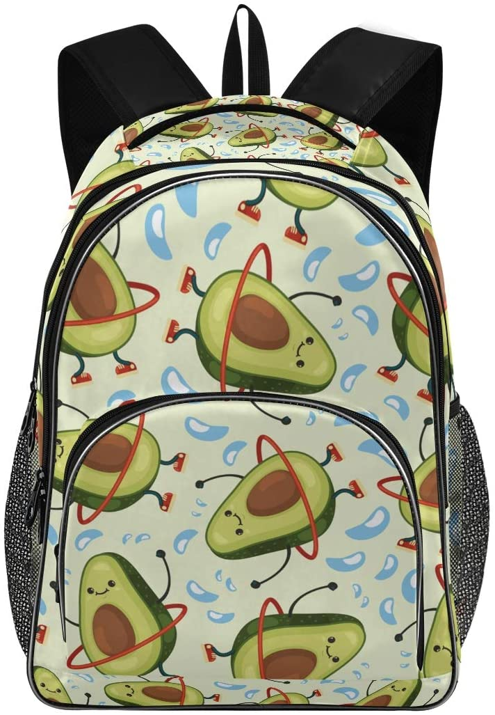 ALAZA Funny Training Slim Avocado School Backpacks Travel Laptop Bags Bookbags for College Student