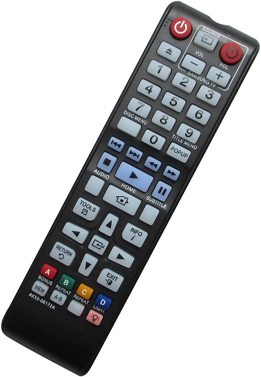 General Replacement Remote Control for Samsung BD-F5100/ZX BD-FM51 AK59-00173A BD-F6700 3D Disc BD Blu-ray DVD Player