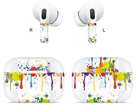 MasiBloom Wireless Bluetooth Earphone Sticker for AirPods Pro (2019 Released) Protective Decal Skin, NOT Compatible with AirPods 2nd / 1st (for AirPods Pro 2019, Graffiti- Multicolor)