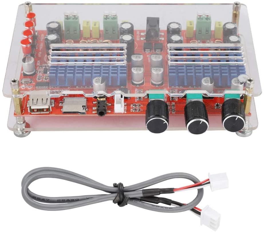 Naroote 2.1 Dgital Amplifier Board, 60W+60 W+100 W High Power Ultra Clear Decoding AUX Bluetooth