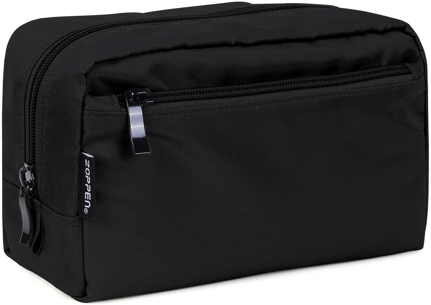 Zoppen Makeup Organizer Travel Accessories Makeup Case Waterproof Toiletry Cosmetic Bag, Black