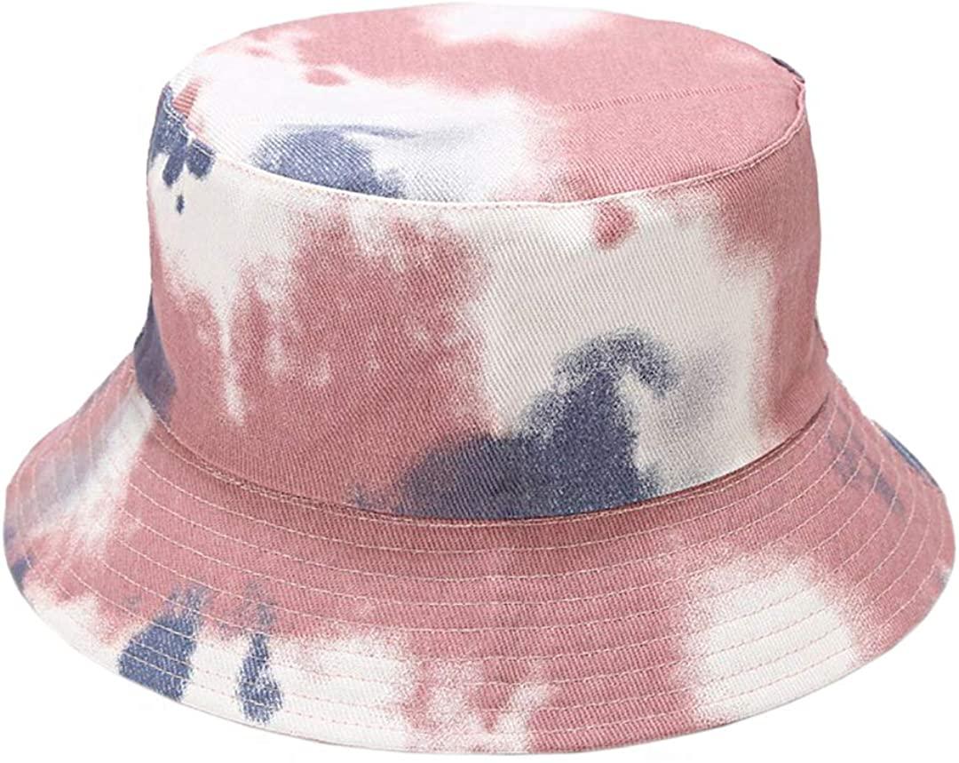 Rebecca Women Cotton Tie Dye Print Reversible Bucket Hat Packable Hat UV Protection