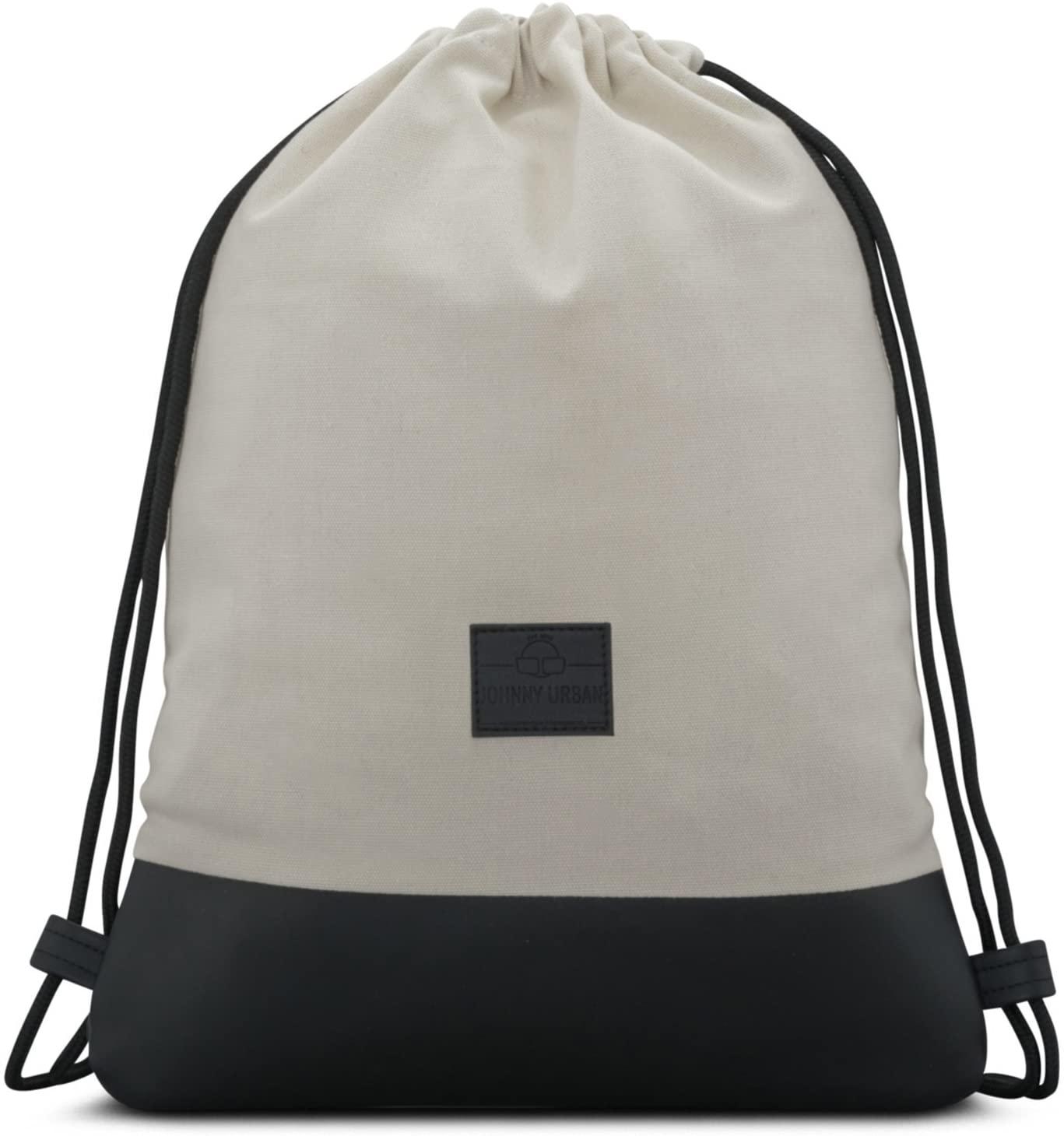 Drawstring Bag Cotton White JOHNNY URBAN Canvas Gymsack Sackpack Sack Men & Women