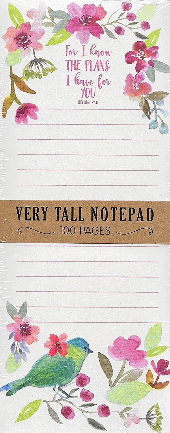 Eccolo Very Tall Magnetic Notepad, For I Know The Plans I Have For You Jeremiah 29:11