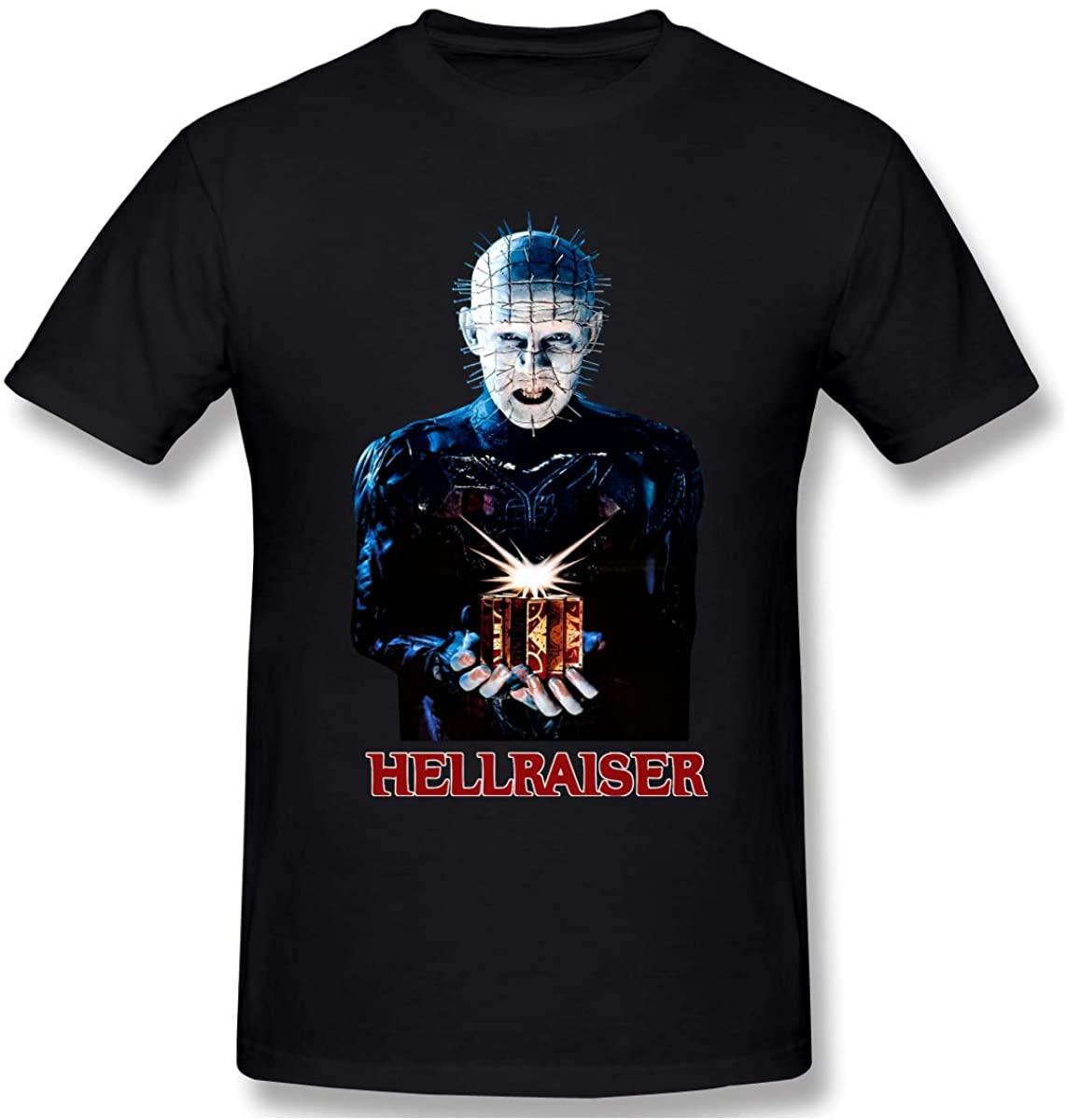 BARKBAY Men's Hellraiser Graphic Short Sleeve Round Neck T Shirts