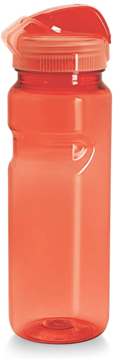 CELLO Go Sports BPA Free Plastic Break Proof Odourless Water Bottle for Sports, Office, Gym and Biking/Reusable Drinking Container with Wide Mouth, Easy Flip Top Cap and Ergonomic Design(24 Oz,Orange)