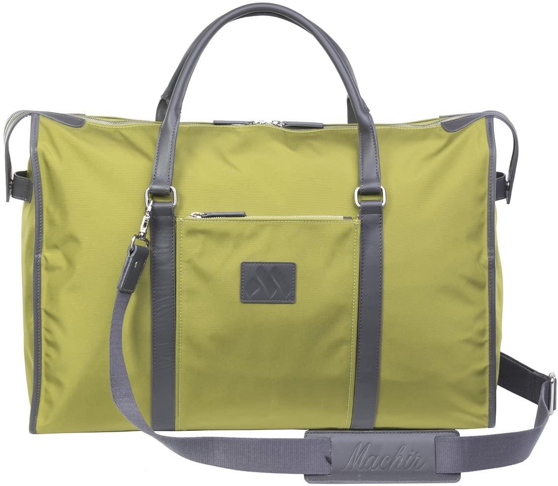 MACHIR Executive Weekender Luxury Travel Duffle Bag Gym Sports Business Vacation (Citrus)