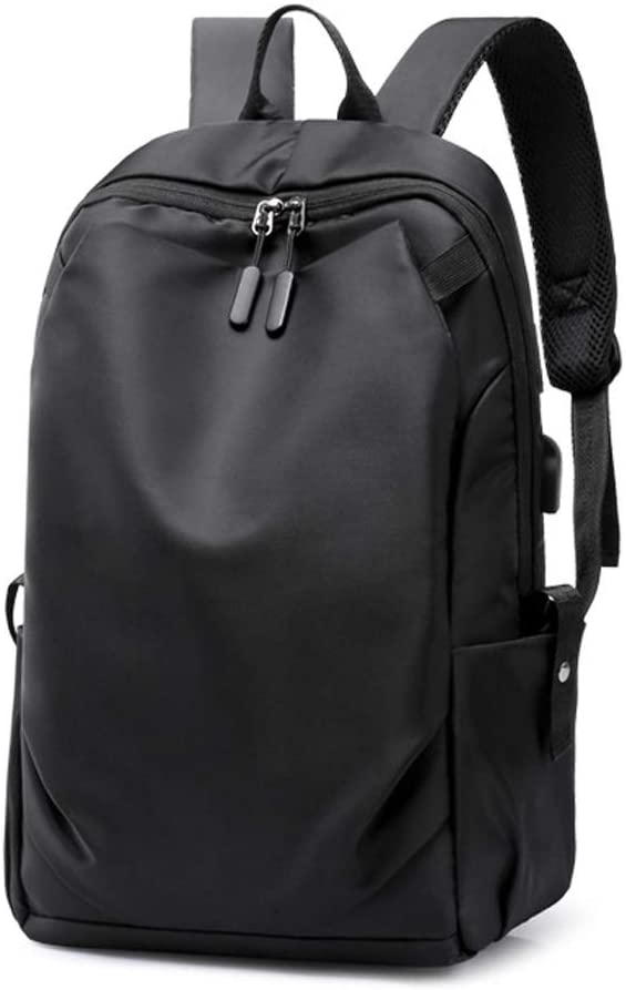 SDINAZ Laptop Backpacks School Computer Notebook School Bags with Laptop Compartment and USB Charging Port US886 Black