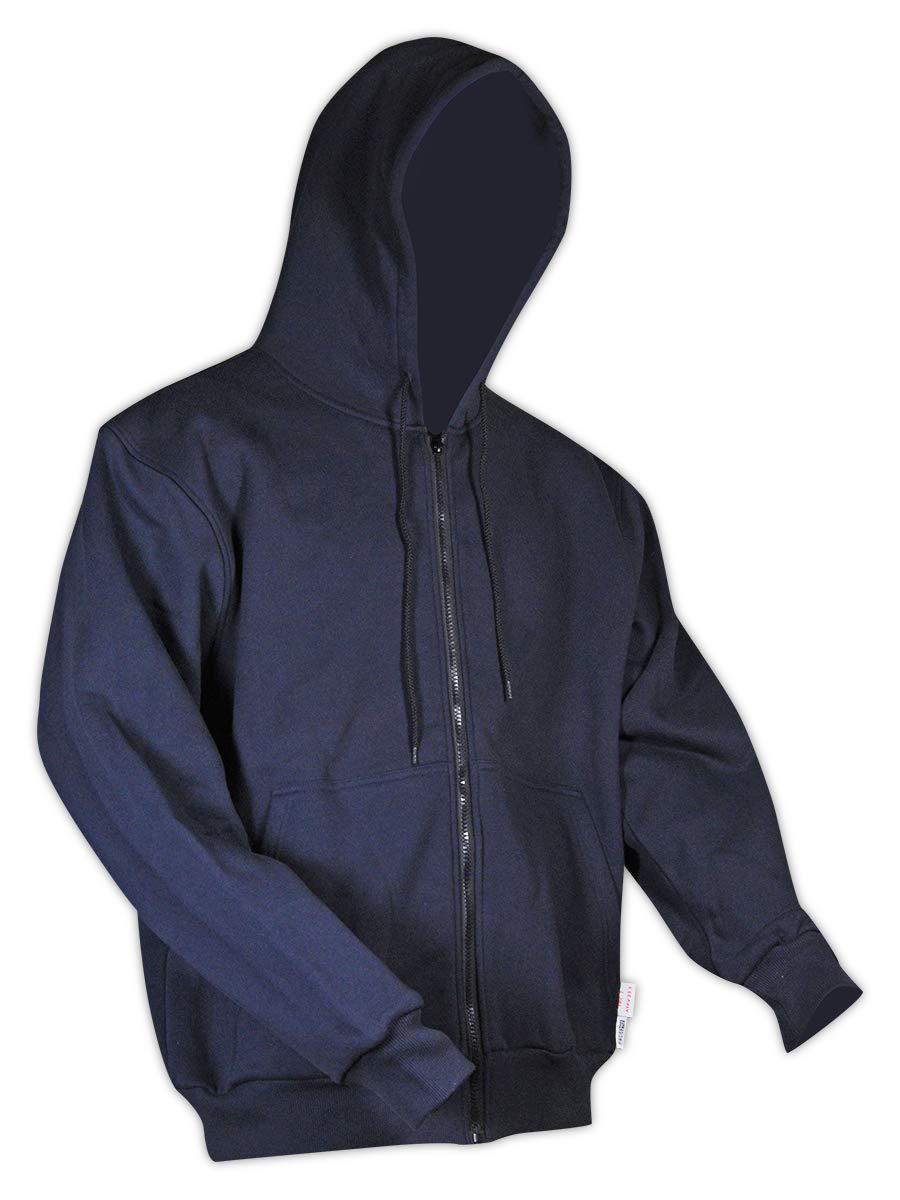 Magid Glove & Safety HC12DHN Dual-Hazard 12.0 oz. FR Zip-Front Hoodie, 5XL
