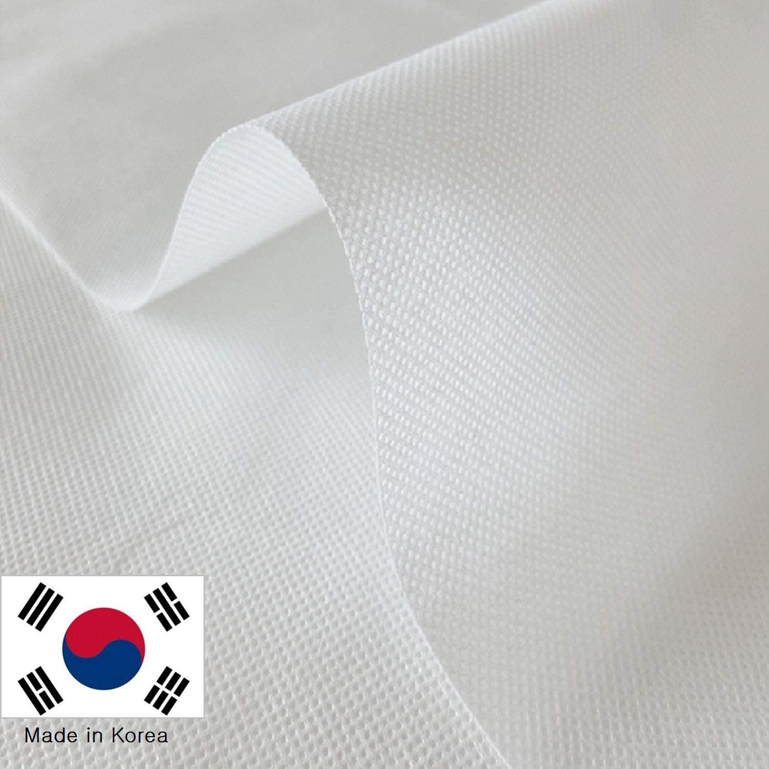 Nonwoven White 40inch Wide by The Yard Fabric Filter Disposable for Dust Proof DIY High Efficiency Filtering Made in Korea