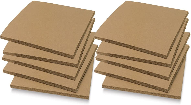 Soft Cut Linoleum Set -10 Pack Printmaking Carving Sheet Block Printing Sheets Art Studio/Class Pack Easy to Carve Wonder Plate (4