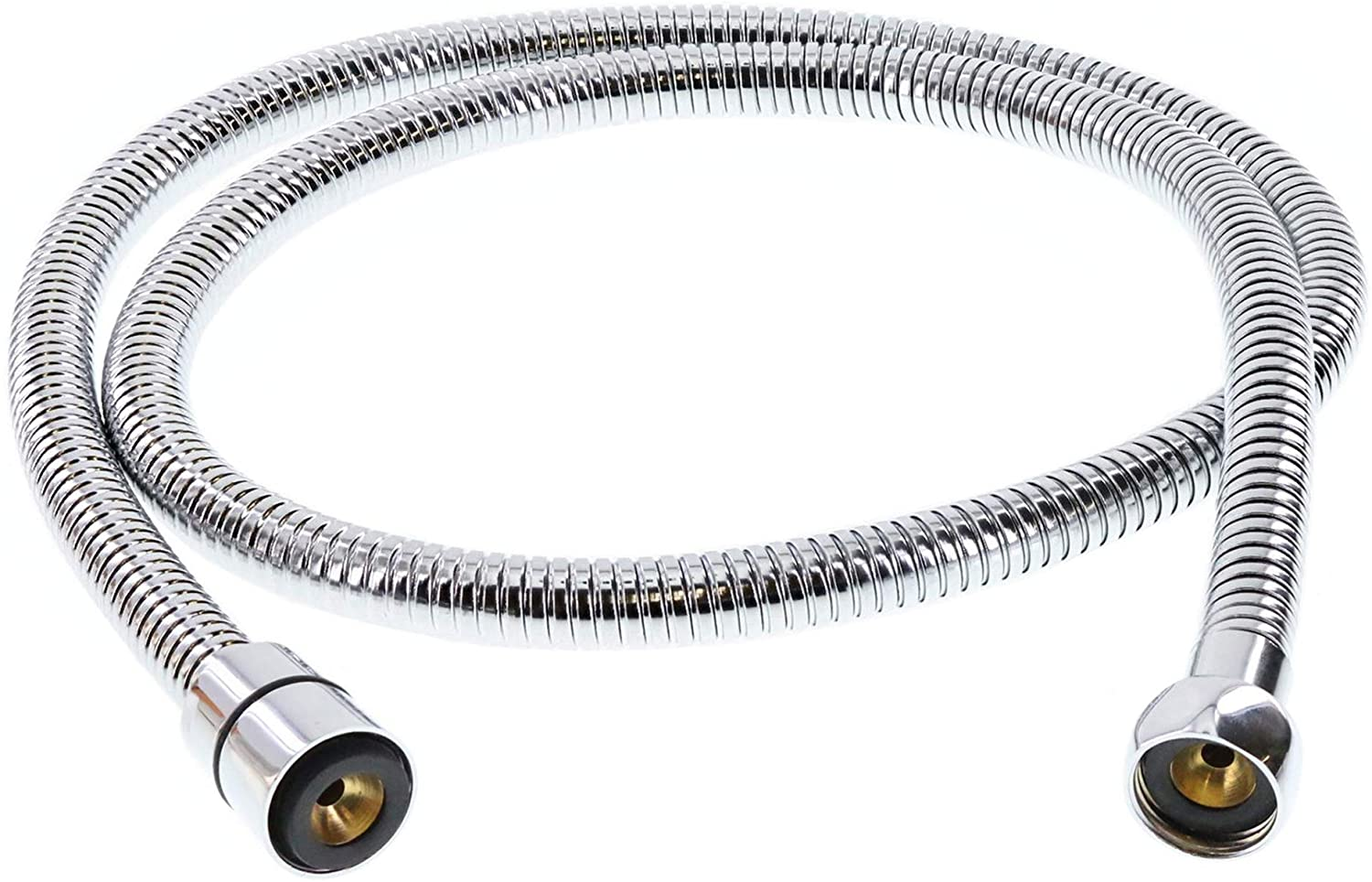 ShowerMaxx, Extra Long Double Interlock Stainless Steel 60 Inch Handheld Shower Head Hose Strechable to 80 Inch, Solid Brass Connector, Flexible, No Twist Hose, Leak Proof, Polished Chrome Finish