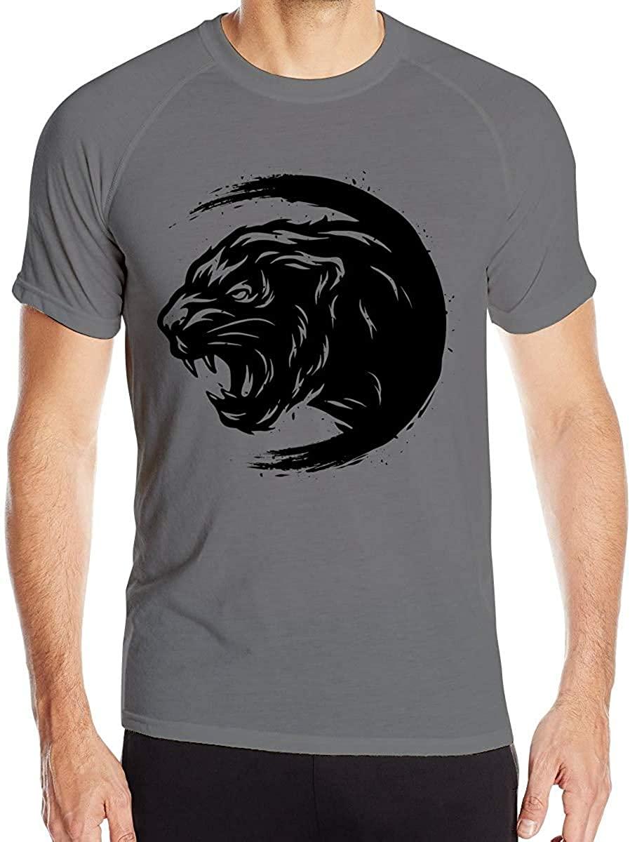 Alpozd Panther Men's Short-Sleeved Quick-Drying T-Shirts Quick Dry Short Sleeved T-Shirt