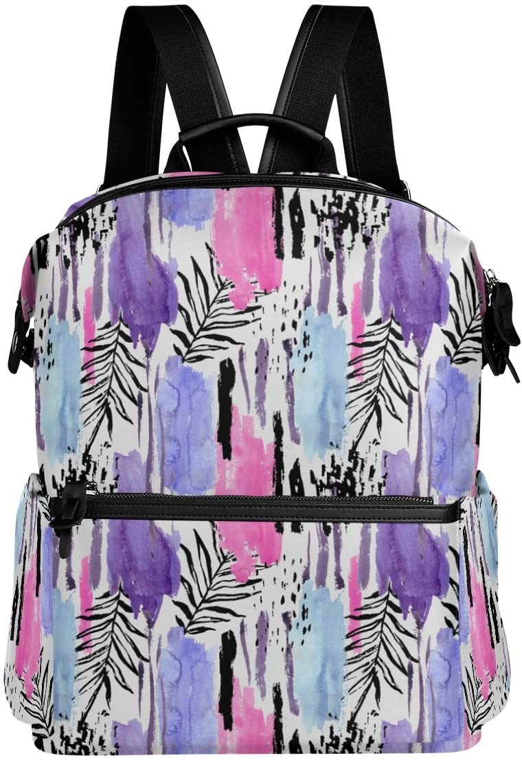 Palm leaves Lightweight Waterproof Polyester Large Capacity Backpack Campus Backpack Travel Daypack