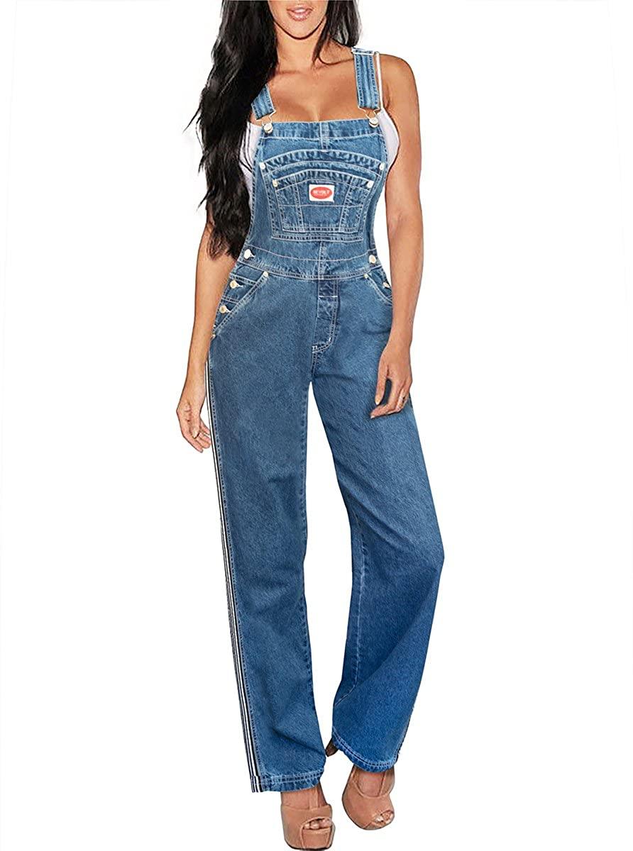 Revolt Women's Classic Bib Overalls - Olive, Khaki and Denim Blue Jean
