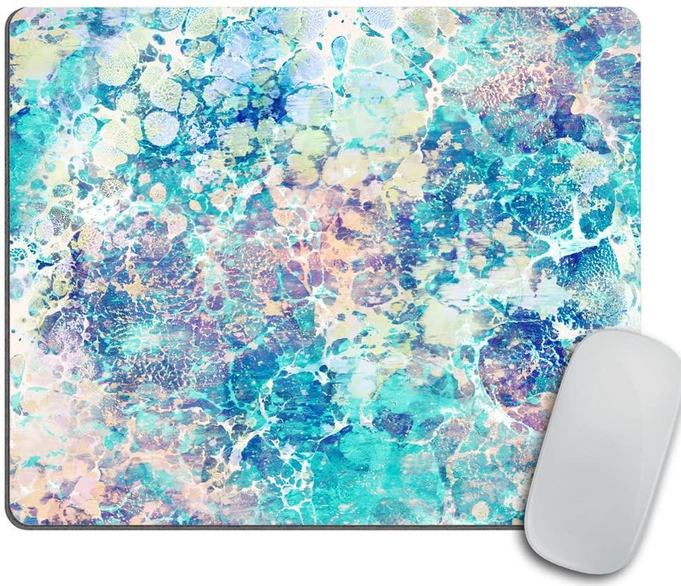 Marble Mousepad, Mouse Mat, Desk Accessories, Mermaid Mousepad, Modern Mouse Pad, Personalized Mouse Pad Rectangle Mousepad, Cubicle Decor