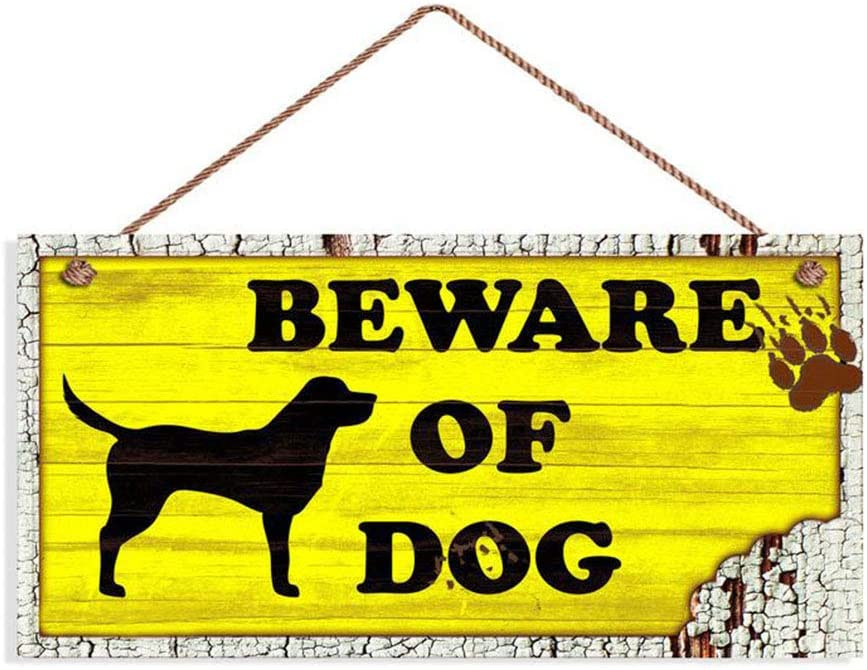 Nawilbi Beware of Dog Sign, Rustic Decor, Lab Dog Sign, Distressed Wood Sign, Dog Silhouette