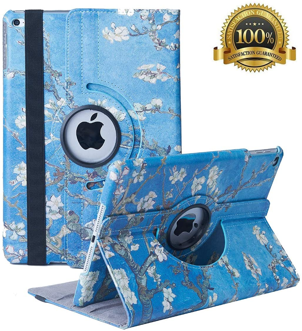 New iPad 9.7 inch 2018 2017/ iPad Air Case - 360 Degree Rotating Stand Smart Cover Case with Auto Sleep Wake for Apple iPad 9.7