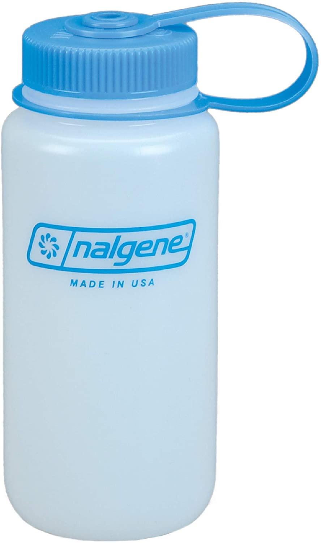 Nalgene HDPE 16oz Wide Mouth BPA-Free Water Bottle