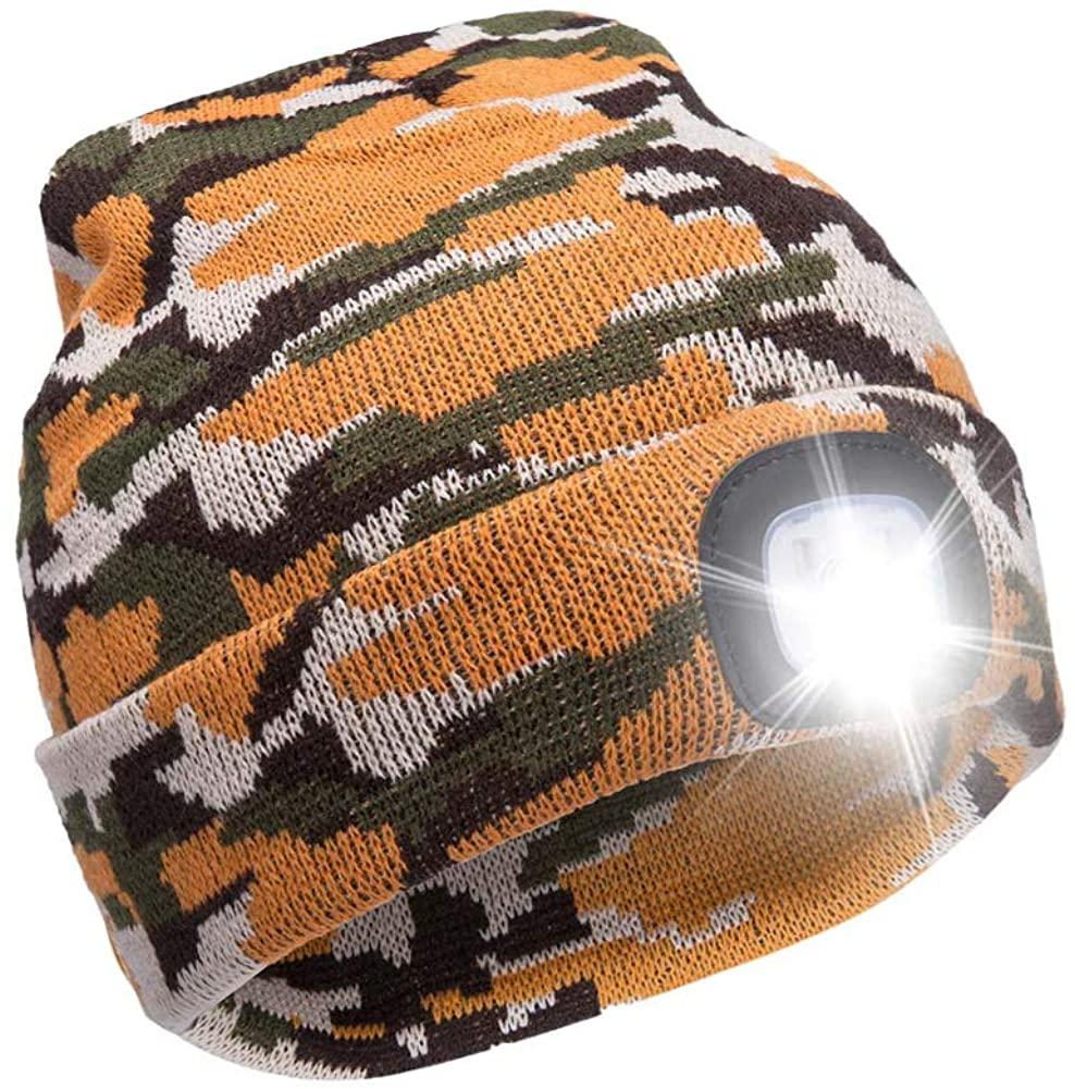 Ultra Bright LED Unisex Lighted Beanie Cap/Winter Warm hat (USB charging)