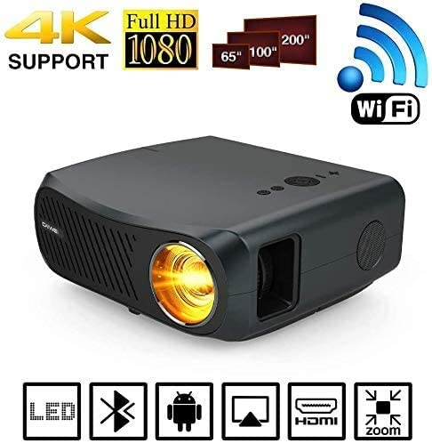 1080P Bluetooth Wifi Movie Gaming Projector Smart Full HD 1920x1080 Native Support 4K Airplay Zoom Phone TV Blueray DVD Game Console LED LCD 5500 Lumens Wireless Home Cinema Theater Outdoor Proyector