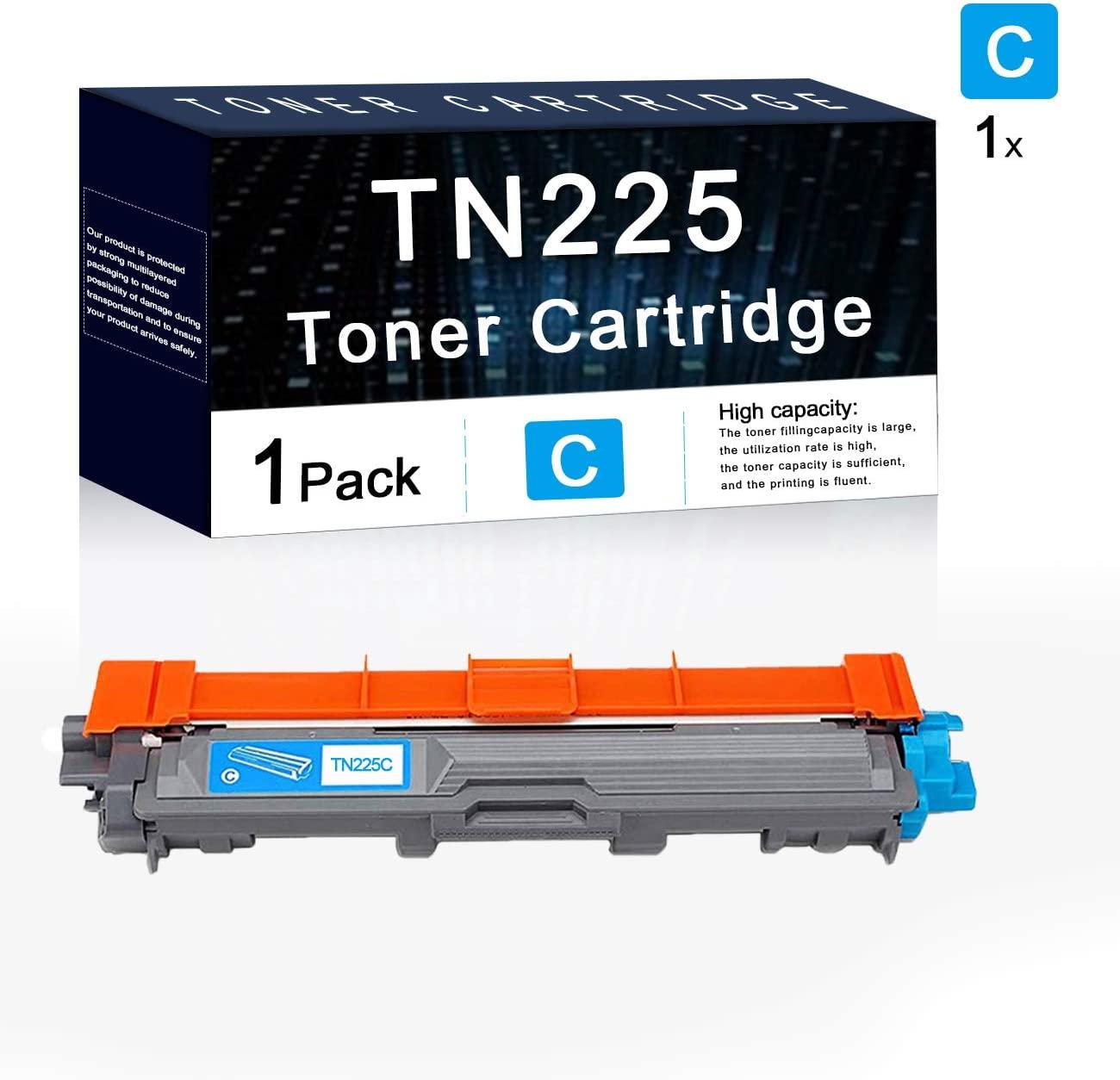 Compatible 1 Pack Cyan TN225 Toner Cartridge Used for Brother HL-3140CW HL-3150CDN HL-3170CDW HL-3180CDW MFC-9140CDN MFC-9340CDW DCP-9020CDN Printers