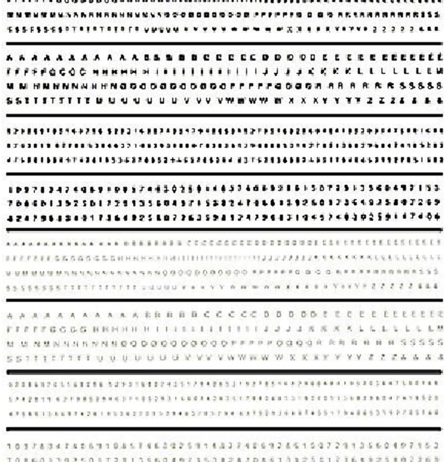 Lettering, Black & White Mini Series Dry Transfer Decals Woodland Scenics
