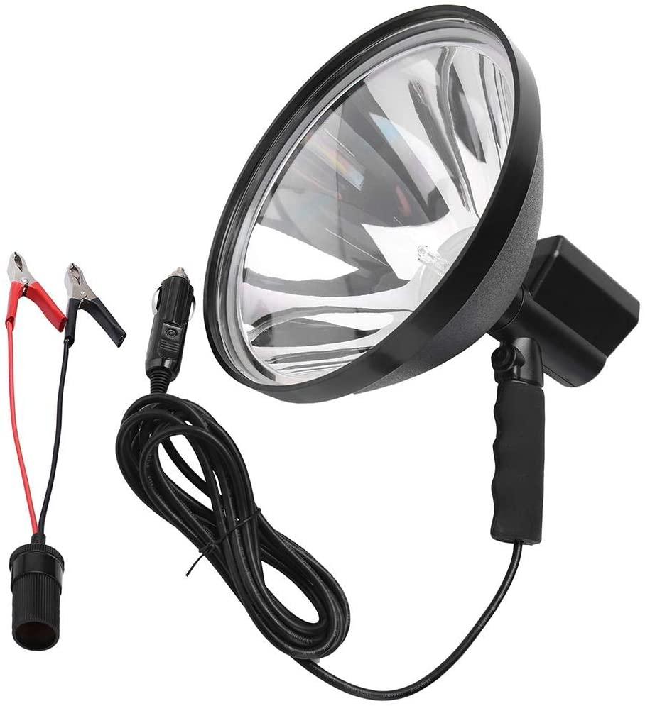 EBTOOLS 100W LED HID Handheld Spot Lights Xenon Hunting Flash Lights Torch Hunting Spot Light Work Spotlight Camping Fishing Boat Searchlight Outdoor Lighting