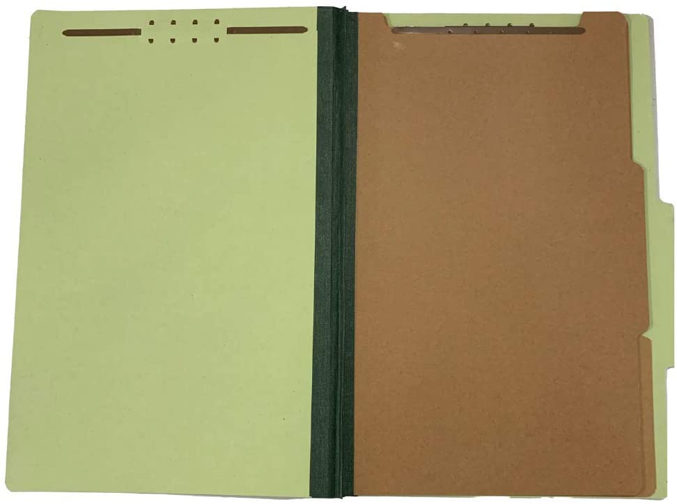 The File King - Pressboard Classification File Folder - Legal Size - 2/5 Cut Top Tab with 2 Dividers and 2