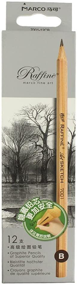 Sipliv Sketch Pencil Drawing Pencil for Writing, Sketch, Shading, Artist, School Supplies Pencil, 9B - 12 pcs