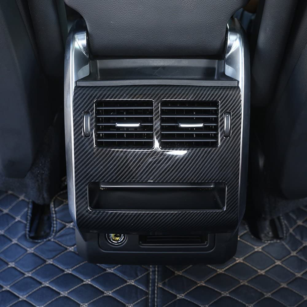 For Range Rover Sport 2014-2018, ABS Plastic Rear Row A/C Vent Cover carbon fiber style
