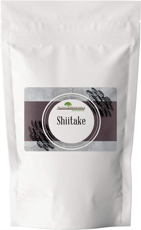 Aloha Medicinals - Pure Shiitake - Certified Organic Mushrooms – Lentinula Edodes - 1 Kilo Bag (Powder)