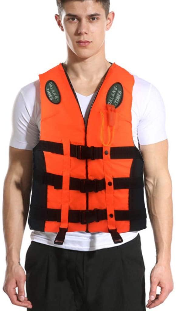 shanghaijiuheng Adults Life Jacket Aid Vest Kayak Ski Buoyancy Fishing Boat Watersport Professional Life Vest