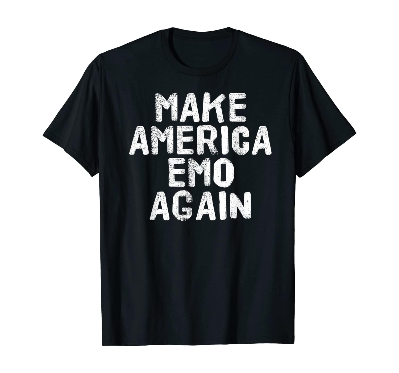 MAKE AMERICA EMO AGAIN Shirt Funny Goth US Gift Idea