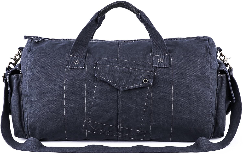 Gootium Canvas Duffel Bag - Vintage Travel Tote Weekend Holdall Sports Gym Bag