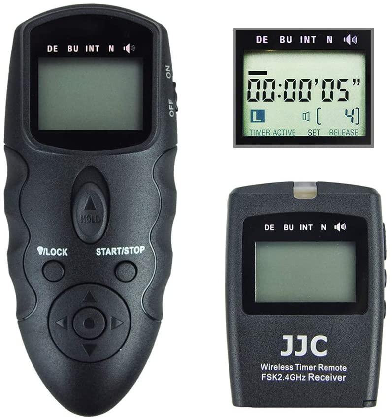 JJC Wireless Intervalometer Timer Remote Control Shutter Release for Nikon D850 D500 D5 D810 D810A D800 D700 D4s D4 D3 D3s D3X D2H D2X D2Hs D2Xs D300s D300 D200 D100 and More Nikon Camera