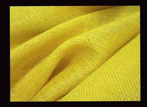 mds 1 Yard x 51 Inch Wide Natural Burlap Fabric Hessian Rustic Natural Jute Country Vintage for Wedding Decoration Table Linen Fabrics- Yellow