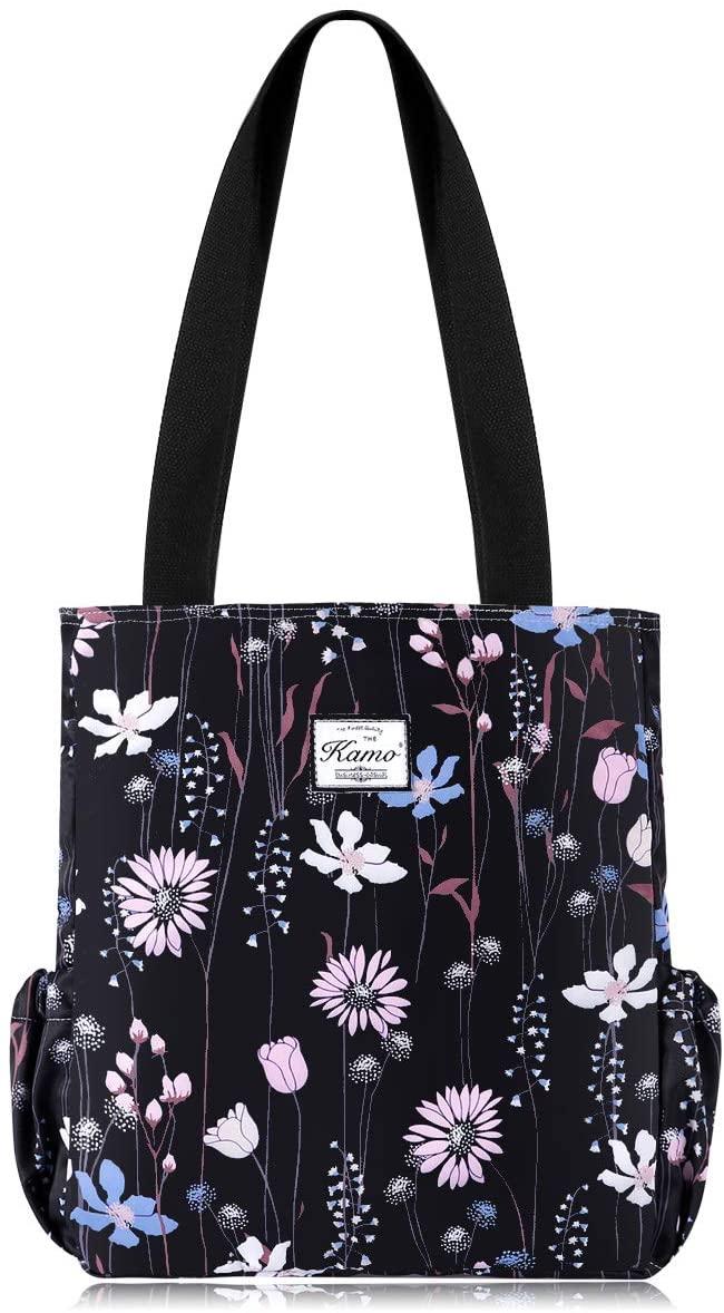 KAMO Large Lightweight Tote Bag - Shoulder Bag for Gym school shopping Hiking Picnic Travel Beach Waterproof Tote Bags