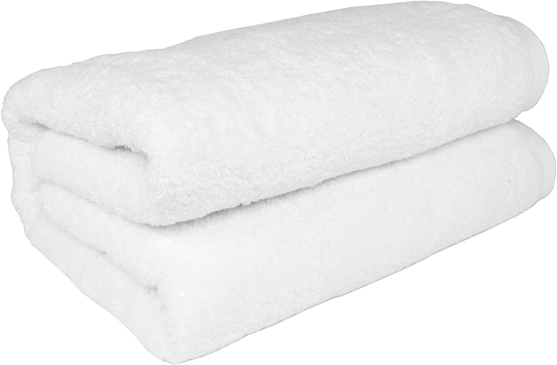 SALBAKOS Turkish Cotton Oversized Bath Sheet, 40 by 80 Inch, White