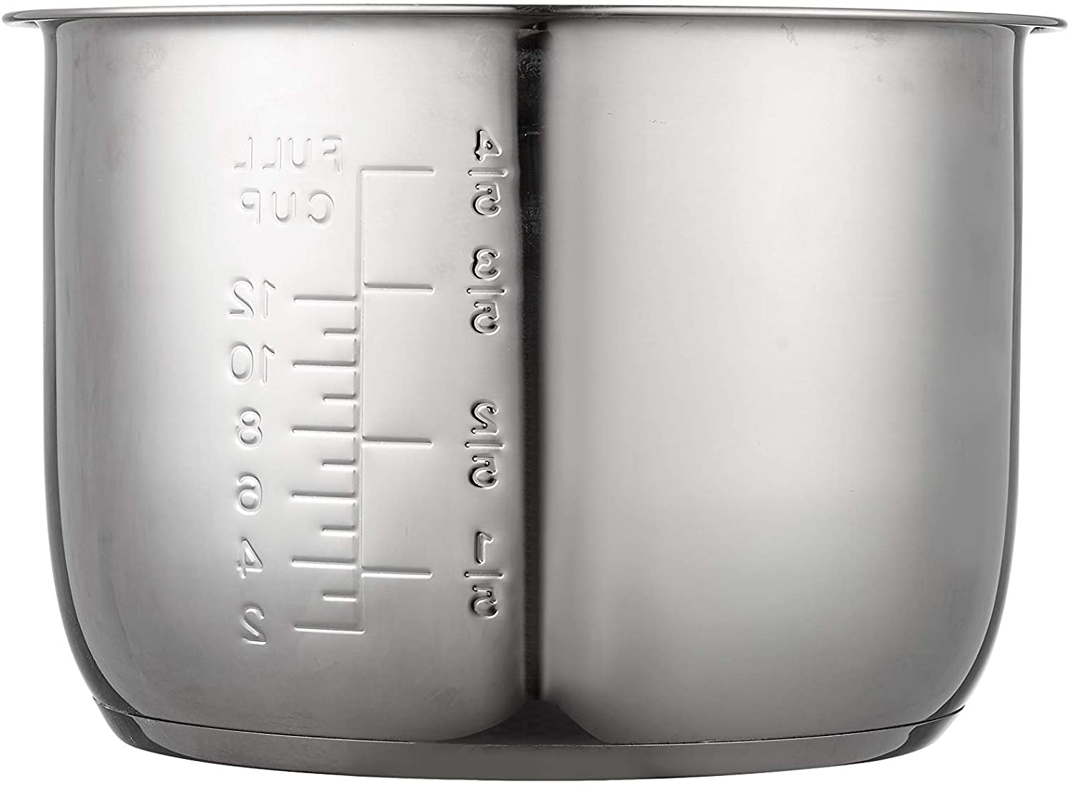 GJS Gourmet Replacement Stainless Steel Inner Pot Compatible with Power Pressure Cooker XL 6 Quart Model PPC770, PPC770-1, PPC771, PRO, WAL1, WAL2 and YBD60-100 (Stainless Steel, 6 Quart)