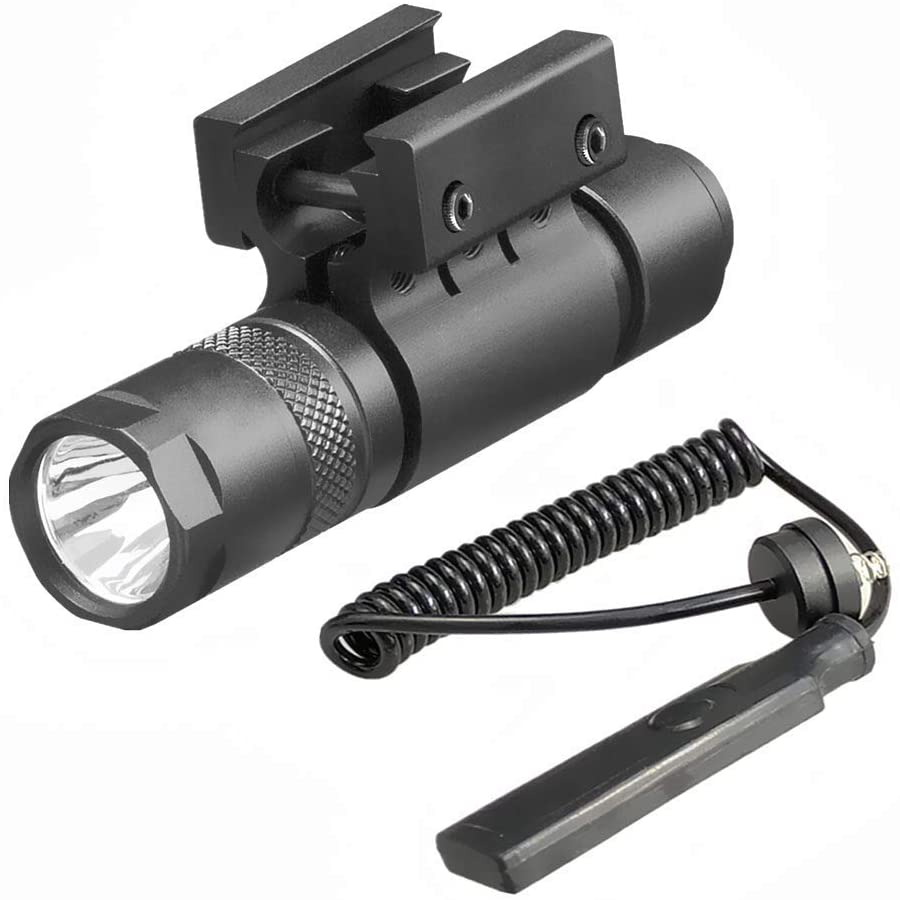 Persei LED Flashlight 90 Lumens with Rail Mount and Detachable Remote Pressure Switch
