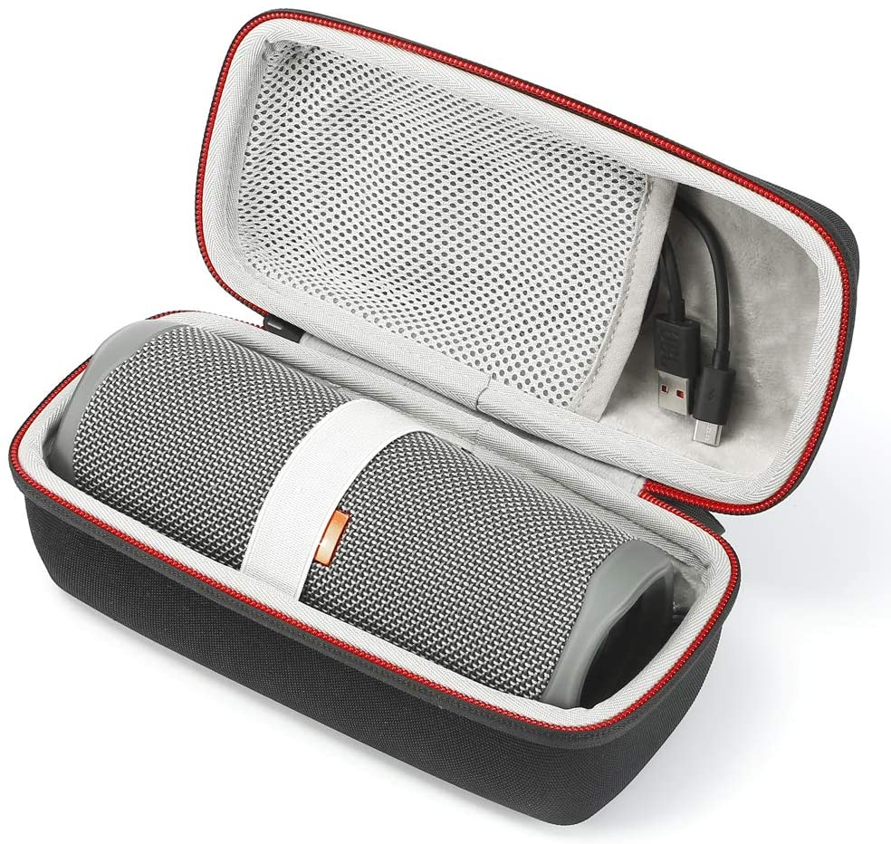 Hard Case Travel Carrying Storage Bag for JBL Flip 5 - with Mesh Pocket for Accessories