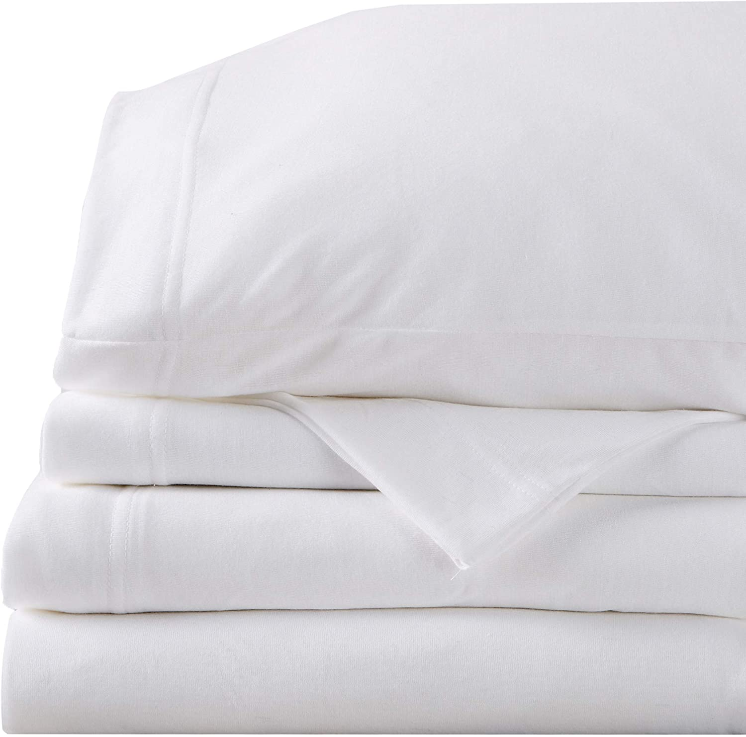 Great Bay Home Super Soft Tech Knit Jersey Sheets. Breathable Lightweight T-Shirt Sheet Set with 16