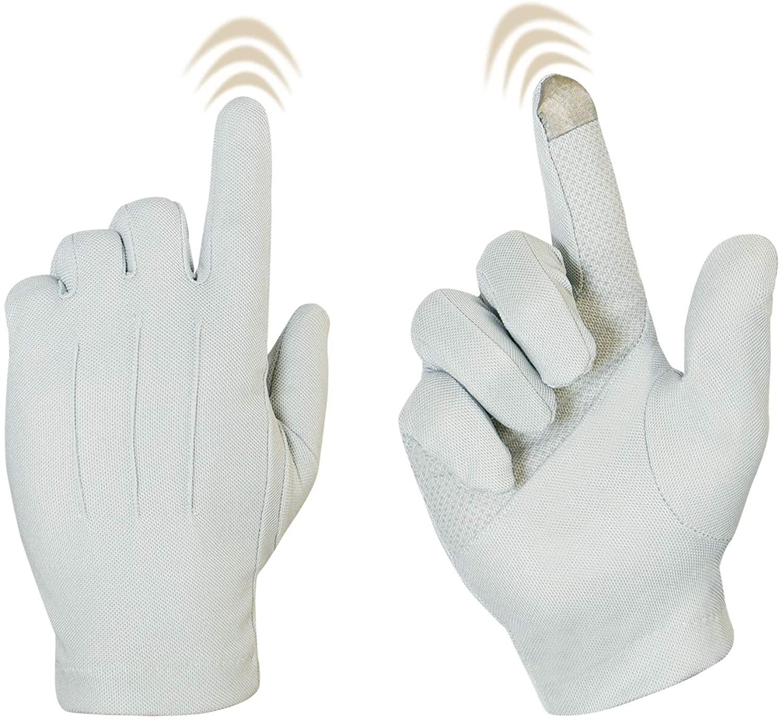Bienvenu Driving Gloves for Men, Non Slip Touchscreen, Summer Sun Protection Gloves