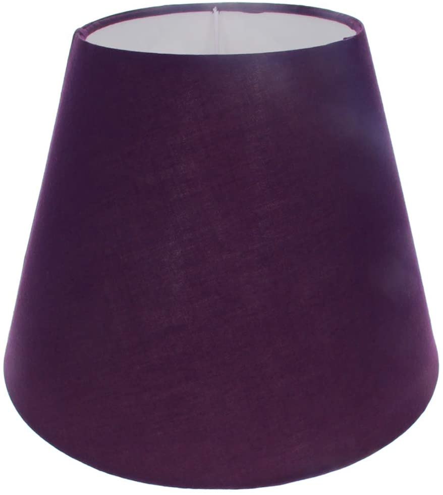 Othmro 13x23x17cm Purple Lamp Shade Empire Shade Floor Lampshade Table TC Fabric Lampshades PVC Lining for E27 Base UNO Style for Home Office Reading Lamps 1Piece