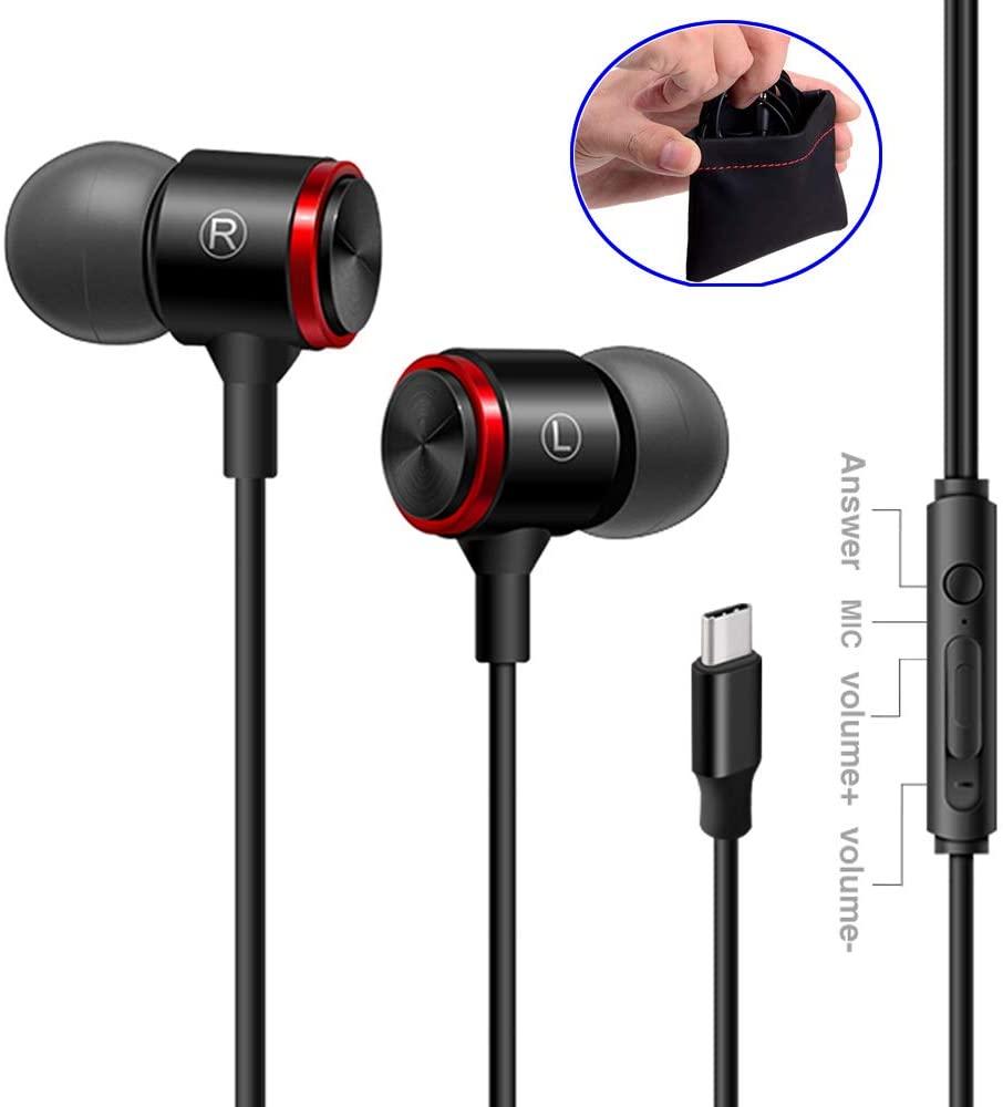 Digital USB Type C Earphone Gift Bag with Mic Remote Control for Google Pixel 3/2/XL, HTC U12/U11,Huawei,xiaomi .Samsung,