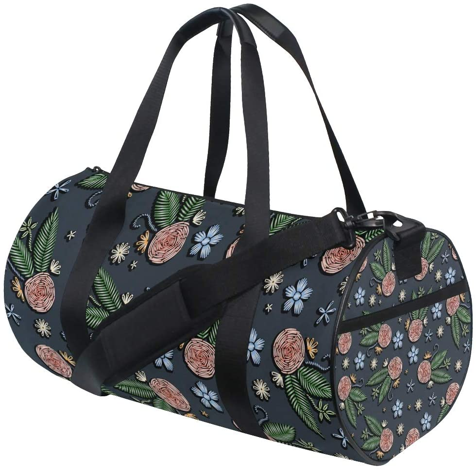 Floral Duffel Bag,Canvas Travel Bag for Gym Sports and Overnight