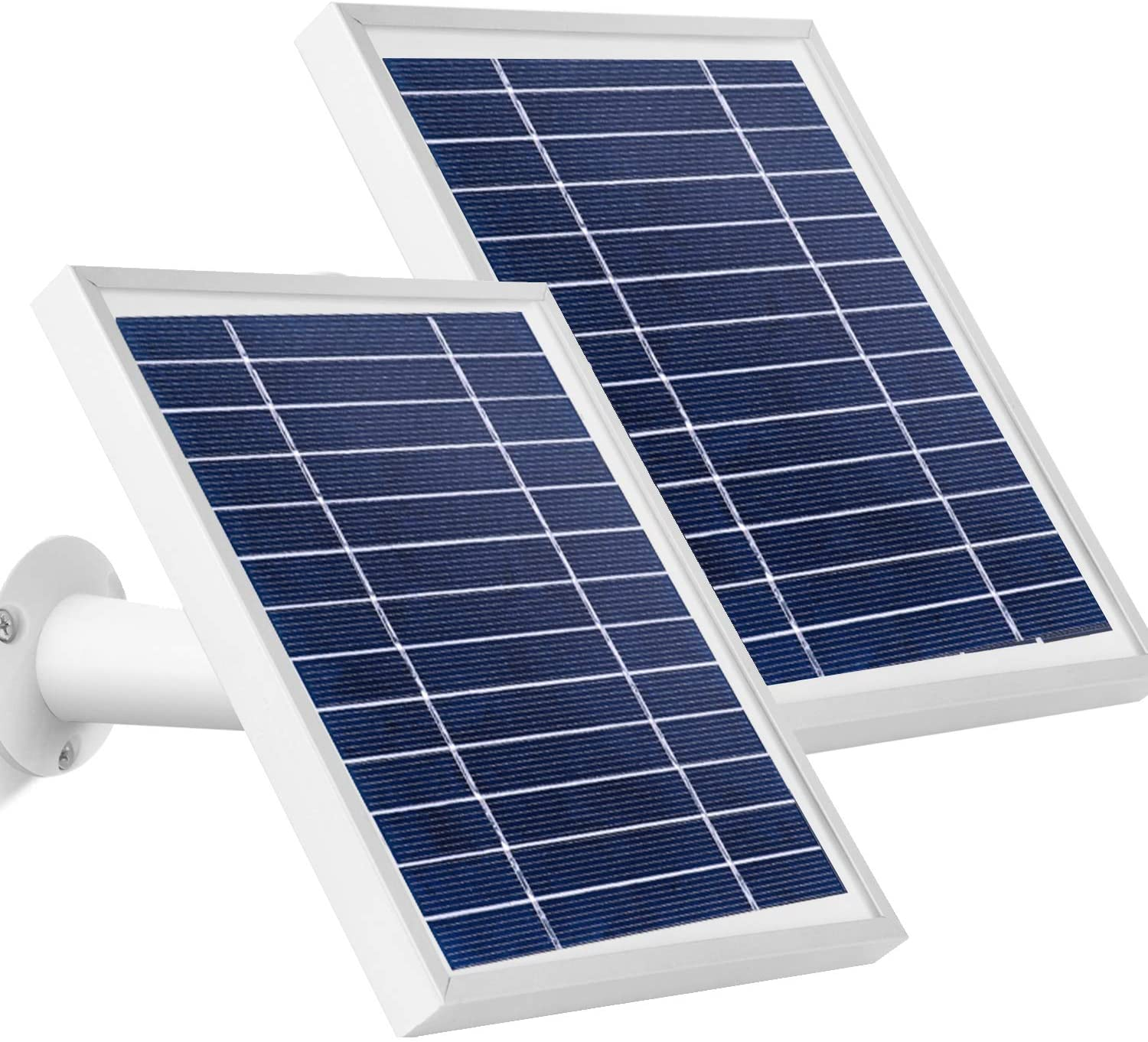 Uogw 2 Pack Solar Panel Compatible with Arlo Ultra &Pro 3, with 11.5ft Outdoor Magnetic Power Charging Cable, Adjustable Mount Waterproof Charge Continuously- Silver (NOT For Arlo Essential Spotlight)