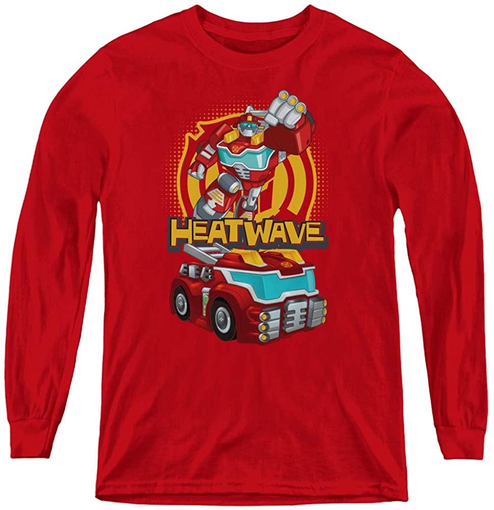 Transformers Kids Long Sleeve Shirt Heatwave Red Tee