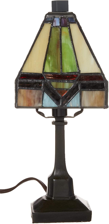 Fine Art Lighting T614 84 Glass Cuts Mini Tiffany Table Lamp, 6 x 12